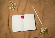 空白重点笔记本 免版税库存图片