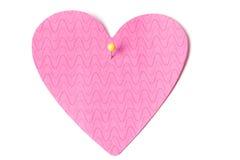 空白附注粉红色过帐 库存图片