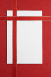 空白附注红色丝带白色 免版税图库摄影
