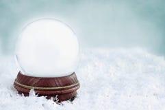 空白雪地球 免版税库存图片