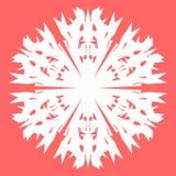 空白雪花 海报的,卡片,邀请设计雪花 免版税库存图片