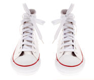 空白鞋子 图库摄影