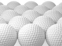 空白高尔夫球 3d例证 免版税图库摄影