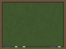 空白黑板绿色 库存例证