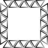 空白黑色的三角 库存照片