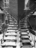 空白黑色的台阶 库存照片