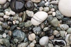 空白黑色的小卵石 库存照片