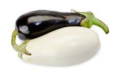 空白黑色的茄子 库存图片