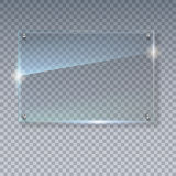 空白,透明传染媒介玻璃板 传染媒介模板,与拷贝空间的大模型横幅 照片现实纹理与 皇族释放例证