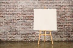 空白画布画架 免版税库存图片