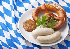 空白巴法力亚的香肠 免版税库存图片