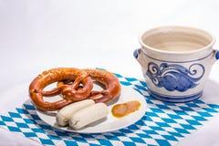 空白巴法力亚的香肠 免版税图库摄影