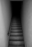 空白黑色的台阶 免版税库存照片