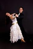 空白01个舞厅的舞蹈演员 免版税库存图片
