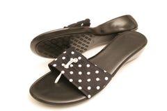 空白2双小点短上衣的鞋子 免版税库存照片