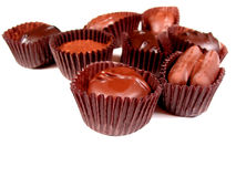 空白6的巧克力 免版税库存照片