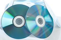 空白cd 库存照片