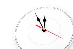 空白clockface 免版税图库摄影