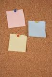 空白corkboard附注 免版税库存图片