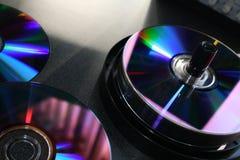空白dvd媒体 库存照片
