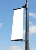 空白lampost海报 库存照片