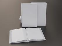 空的书大模型模板 免版税库存图片