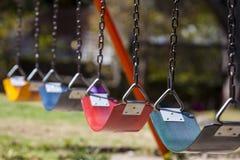 空的五颜六色的摇摆 免版税图库摄影