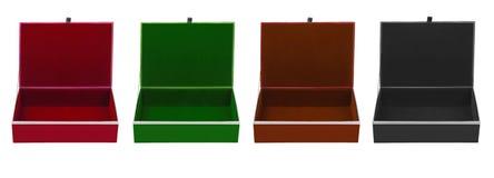 空的五颜六色的箱子 库存图片