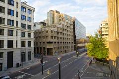 空的伦敦街道 库存照片