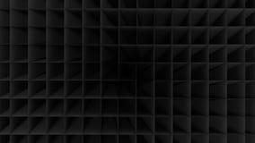 黑空的低多几何栅格背景 免版税库存图片