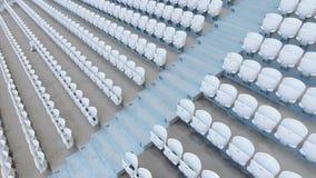 空的体育场供以座位行 股票视频