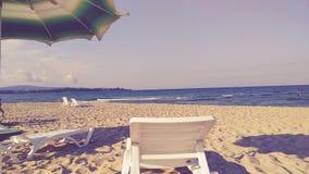 空的保加利亚海滩 免版税库存照片