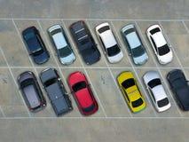 空的停车场,鸟瞰图 免版税库存照片