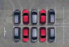 空的停车场,鸟瞰图 免版税库存图片