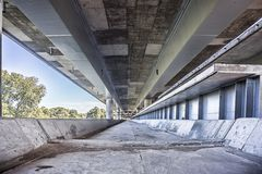 空的具体桥梁建筑 库存照片