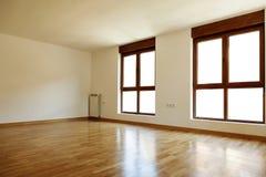 空的内部室和窗口 库存图片