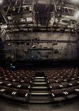 空的剧院内部 库存图片