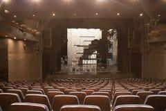 空的剧院阶段 免版税库存图片