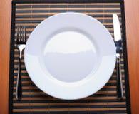 空的厨房牌照 免版税库存图片
