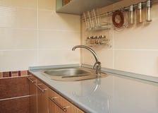 空的厨房用桌 库存照片