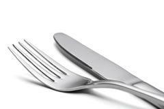 空的叉子和刀子 图库摄影