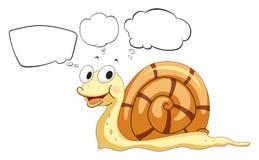与蜗牛的空的呼出 免版税库存照片