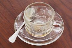 空的咖啡杯 图库摄影