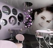 空的咖啡馆 免版税图库摄影