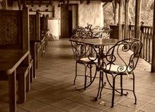 空的咖啡馆 免版税库存照片