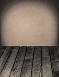 空的土气木厨房用桌 图库摄影