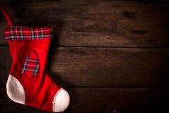 空的圣诞节袜子 免版税库存图片