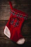 空的圣诞节袜子 库存图片