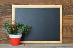 空的圣诞节黑板 库存照片