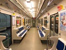 空的地铁无盖货车 库存照片